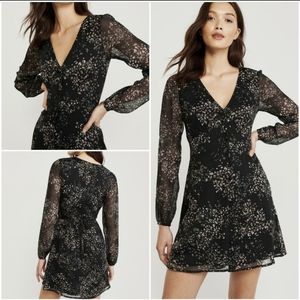 A&F Black Floral Mini Dress